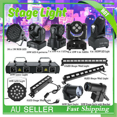 New Projector DJ Disco KTV Light Stage RGB LED Moving Head Light DMX Party Laser