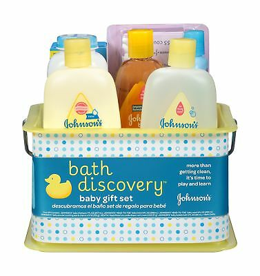 Johnson's Bath Discovery Gift Set For Parents-To-Be Caddy With Bath Essential...