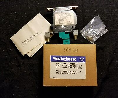 NIB WESTINGHOUSE THERMAL OVERLOAD RELAY 1 POLE SZ 2 FT21P36 24-36 Amps EGH 10