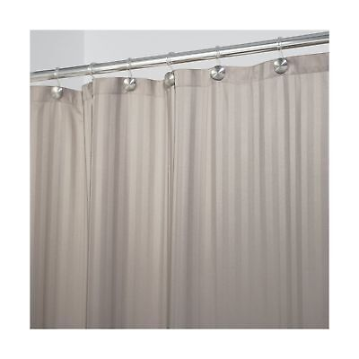 MDESIGN SATIN STRIPE Fabric Shower Curtain Liner - Long 72\