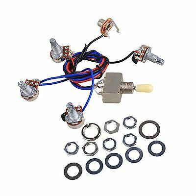 Electric Guitar Wiring Harness Kit Replacement for LP guitar prewired wiring harness set w 2 volume 2 tone 3 way switch