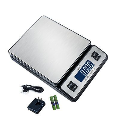 Weighmax W-2809 90 LB X 0.1 OZ Durable Stainless Steel Digital Postal Scale S...