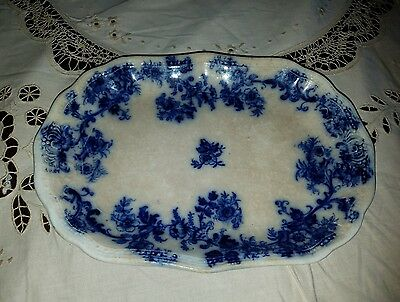 Antique  New Wharf Pottery England Oval Dish