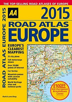 AA Road Atlas Europe 2015 by AA Publishing Book The Fast Free Shipping