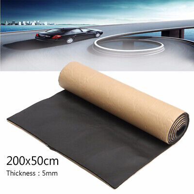 Car Auto Van Sound Proofing Deadening Insulation 5mm Closed Cell Foam 200x 50cm