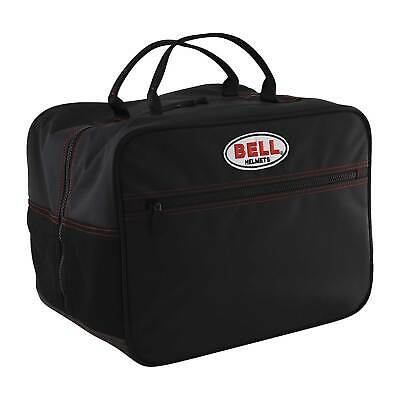 Genuine Bell Helmet Bag Leather/Rubber In Black - Race/Racing/Rally/Karting
