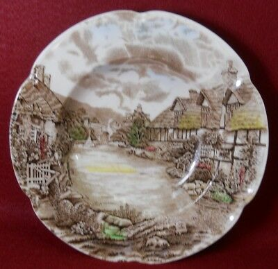 """JOHNSON BROTHERS china OLDE ENGLISH COUNTRYSIDE - Multicolor Rim Soup Bowl - 8"""""""