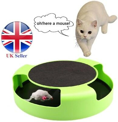 CATCH THE MOUSE CAT TOY -  Kitten Plush Moving Toy Scratching Claw Care Mat Play