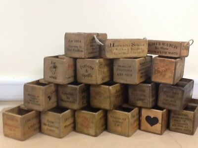 Vintage Style Wooden Crates. Antiqued Storage Boxes. Many Themes To Choose From.