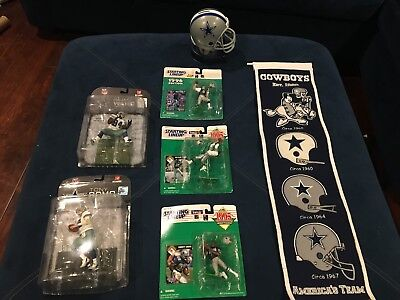 Lot of Dallas Cowboys collectibles - some vintage Aikman, Irving, Smith