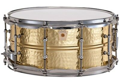 """Ludwig Hammered Brass 14"""" x 6.5"""" Snare Drum"""