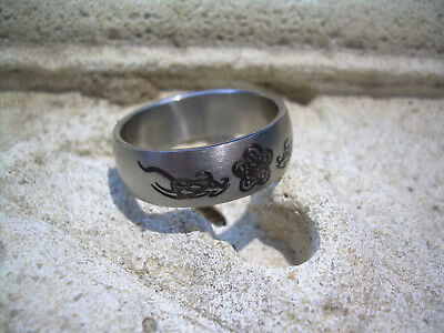 Surgical Steel 316L No Tarnish Ring Band Size 13 MB FR3 Man Woman Celtic Etched