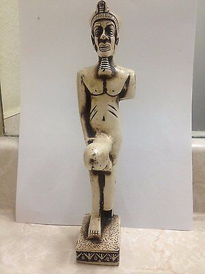 Rare Handmade Antique Ancient Egyptian fertility God Min- erect penis Statue .