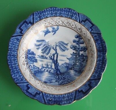 Booths Real Old Willow Blue, White & Gilt Small Plate 13cm c.1940