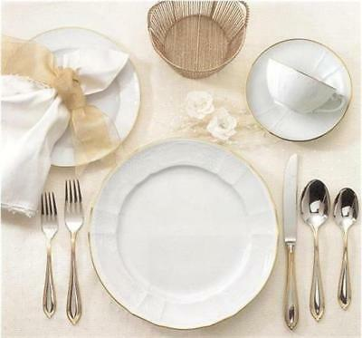 Factory New 4 Piece Place Setting of Mottahedeh Golden Solitude