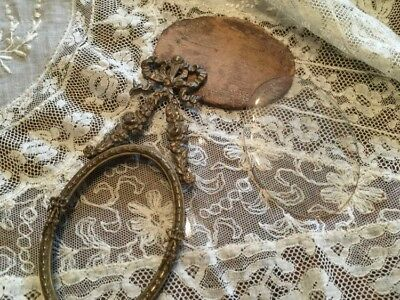 Antique,bronze/brass oval hanging frame ready for your porcelain or fav photo