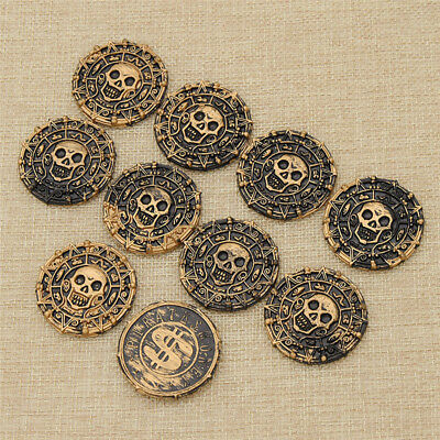 Lot of 10/100 Plastic Pirate Coins Play Money Party Favours Supplies Kids Toys