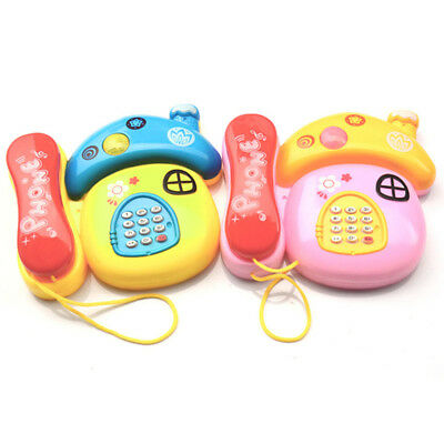 Hot Baby Electronic Toys Simulation Telephone Musical Light Educational For Kids