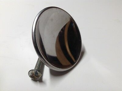 "New old stock Vintage 2"" CHROME Drawer Knob with screw Cabinet Door Pull Concave"