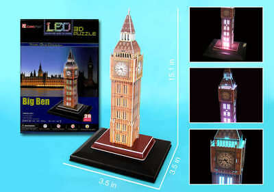 Daron 3D Puzzles London's Big Ben With Lights (28 Pieces) | Bn | Cfl501H