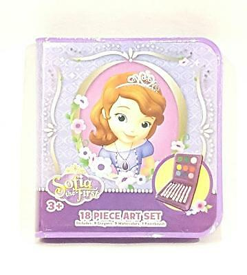 New Disney Sophia the First 18 pc. Art Set - NIP - Ages 3+ - Great Gift