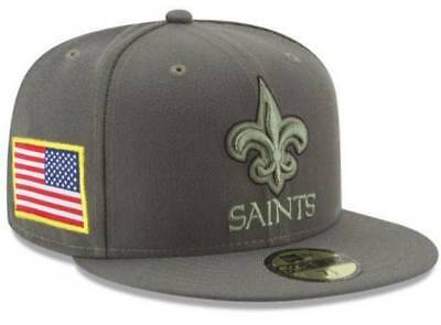 fd6a2a75a6d16 Official 2017 New Orleans Saints New Era NFL Salute Service 59FIFTY Fitted  Hat