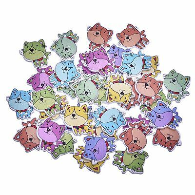 Baby Kids Lovely Buttons Multicolor Dogs Printed 50 Pcs Fastener Scrapbooking
