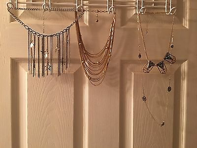 Lot of 3  Multi Layered Long Cluster Sweater Necklaces  Mothers Day gift