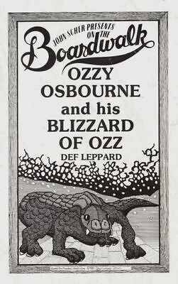 Ozzy Osbourne / Randy Rhoads / Def Leppard 1981 Blizzard Of Ozz Tour Program