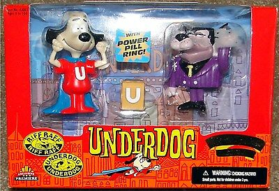 UNDERDOG & RIFF RAFF, Exclusive Toy Products LIMITED EDITION, 1998, NEW in Box!