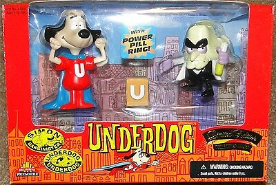 UNDERDOG & SIMON BARSINISTER, Exclusive Toy Products LIMITED EDITION, NEW in Box