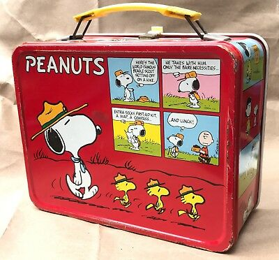 Reduced! Vintage 1965 Peanuts Metal King-Seeley Lunchbox! Snoopy! Charlie Brown!