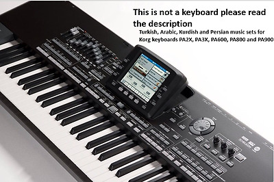 Arabic,Kurdish And Turkish SET for Korg Pa2x, Pa3x, Pa600, Pa800,Pa900 Keyboards