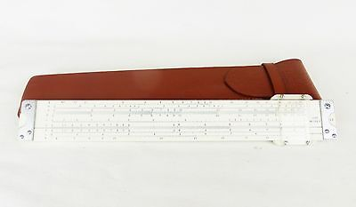 Vtg. Lutz No.102 S slide ruler with brown leather case japan measure engineering