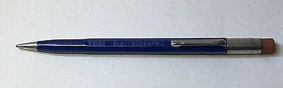 Vintage MECHANICAL PENCIL:  IBM Electrographic - Blue - Used