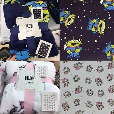 Primark DISNEY Fleece Blanket Throw ALIENS TOY STORY or MARIE CAT THE ARISTOCATS