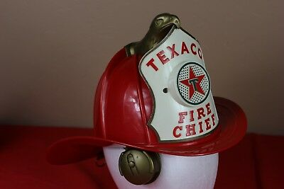 Vintage Park Plastics Co. TEXACO Fire Chief Fireman Toy HELMET