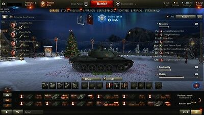 World of Tanks account EU with 72 premium tanks + Type 59 for free !