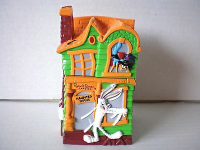 Vtg 1997 Russell Stover Looney Tunes Halloween Haunted House Bank Candy Holder