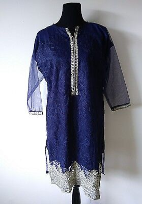 Pakistani ,indian party net kurti with  Embroidery .