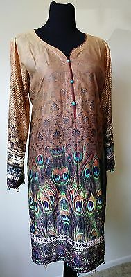 Pakistani/ indian party kurti digital crystal lawn.