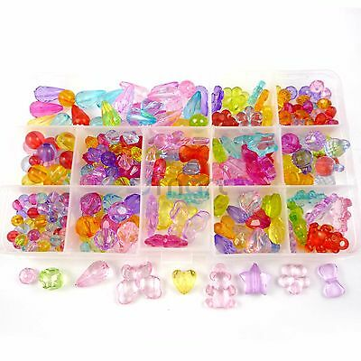 13 Designs Transparent Mixed Beads Kit For Kids Set Fun Jewellry Making Craft