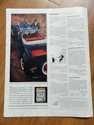1960 Quaker State Motor Oil Ad 1936 Auburn Cabriolet Drysdale of Lafayette IN