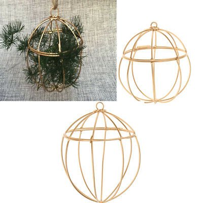 Vintage Birdcage Air Plant Hanging Flower Rack Garden Wedding Home Decoration