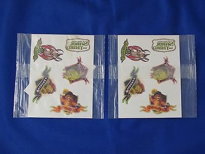Two (2) 2007 Kellogg Shrek The Third Tattoo Sets - Cereal Promo - Factory Sealed