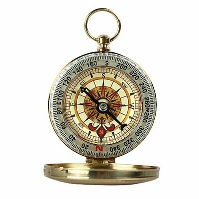 Portable Pocket Compass Classic Golden Outdoor Camping Hiking Watch Style Brass
