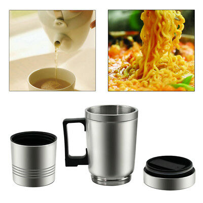 300ML Electric Thermos Thermal Heated Travel Mug Cup for Car Caravan PO98 Fu
