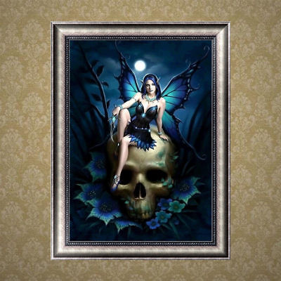 Skull Beauty DIY 5D Diamond Painting Embroidery Cross Stitch Kit Home Decor HOT