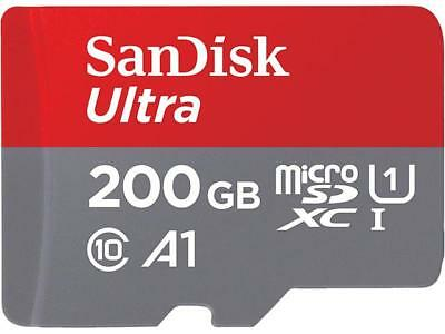 SanDisk 200GB Ultra microSDXC A1 UHS-I/U1 Class 10 Memory Card with Adapter, Spe