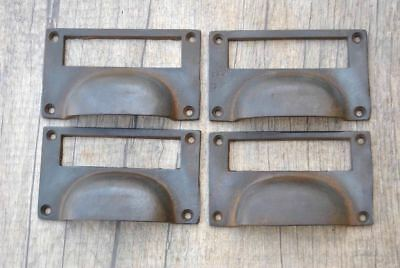 4pcs Vintage Victorian Cast Iron Cabinet drawer Bin Pull Numbered Cup handle 4""